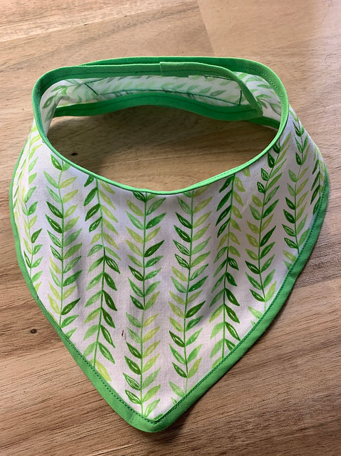 "Foulard ""feuilles vertes"""