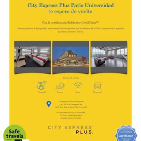 City Express Patio Universidad cuenta con la certificación Safehotels CovidClean.