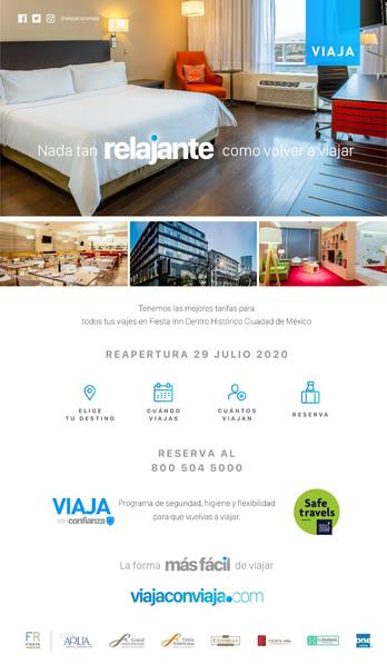 El Hotel Fiesta Inn Centro Histórico su mejor opción para su próximo viaje a la CDMX.