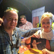 Meeting Clare Grogan at a gig!