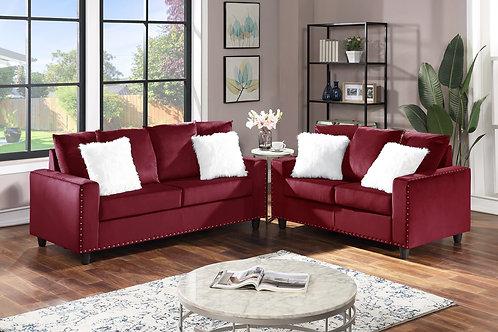 Cinderella Red Sofa & Loveseat