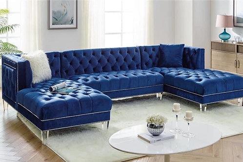 Praden - Blue Sectional