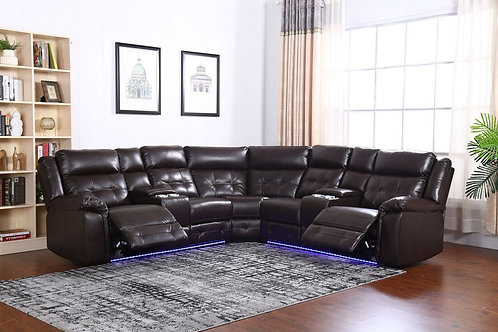 Amazon Brown - Power Reclining Sectional
