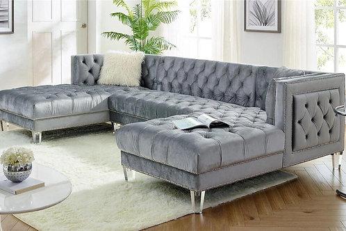 Praden - Grey Sectional