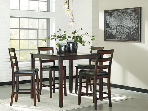 D385 Pub Table + 4 Chairs