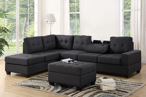 5HEIGHTS - SECTIONAL + STORAGE OTTOMAN SET