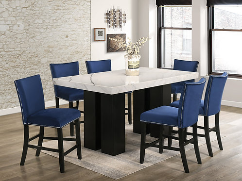 Finley Blue - Counter Height Table & 6 Chairs