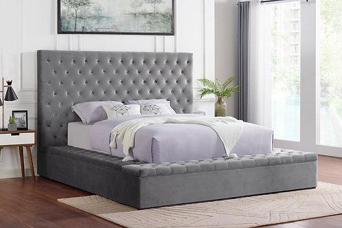 Paris Grey Platform Bed Queen/King