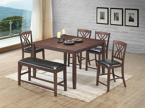 Aldo - Pub Table, 4 Chairs, Bench Set