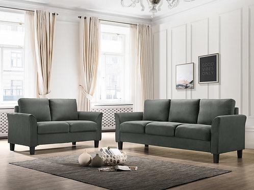Denmark - Steel 2pc Sofa & Love Set