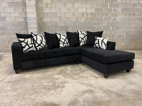 110 - BLACK Sectional