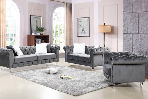 3PC Manchester Grey - Sofa, Loveseat, Chair Set