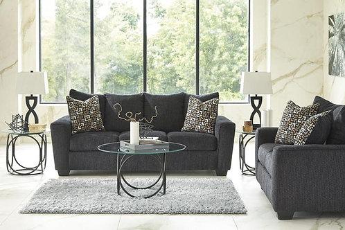 57002 Ashley Wixon Slate Sofa & Loveseat