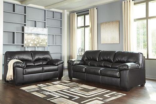 24702 Ashley Brazoria Black Sofa & Loveseat