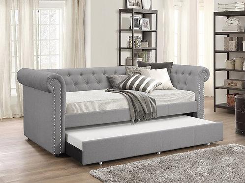 Oakmont Grey Linen Daybed