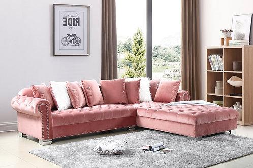London OVERSIZE- Pink Velvet
