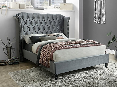 B9100 Hollywood Grey Queen/King Bed