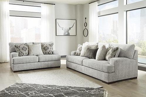 84604 Ashley Mercado Pewter Sofa & Loveseat