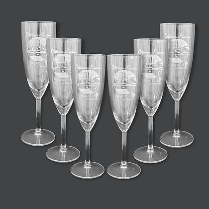 Flûtes à Champagne 20cl [Gravées]