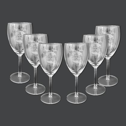 Verres à vin Blanc 25cl  [Gravés]