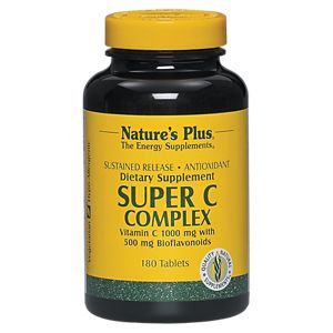 Natures Plus Sustained Release Super C Complex 180 Tablets