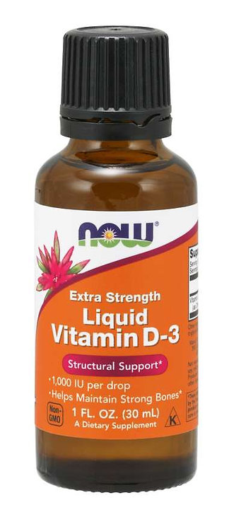 NOW Extra Strength Liquid Vitamin D-3 1fl oz
