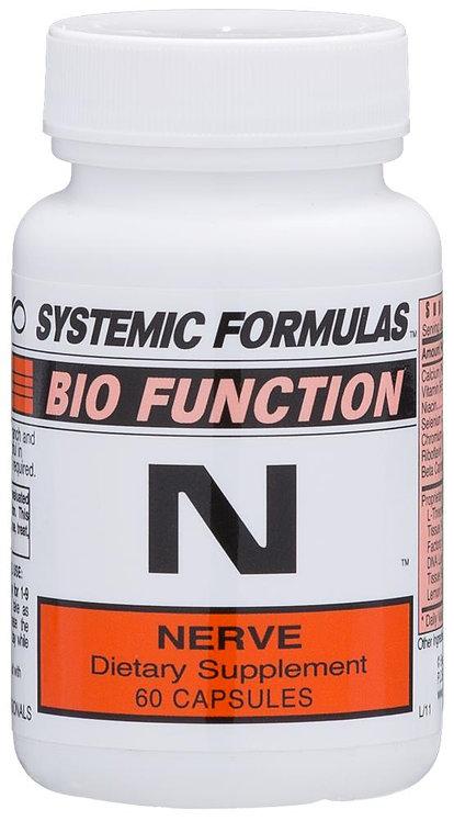 Systemic Formulas Bio Function N Nerve 60 Capsules