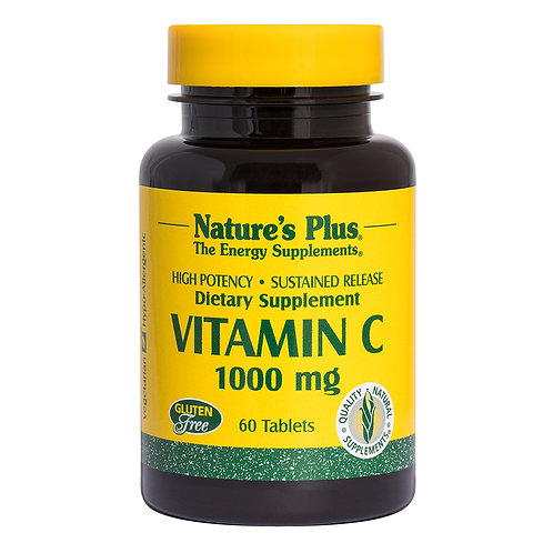 Natures Plus Vitamin C 1000mg with Rose Hips 60 Tablets