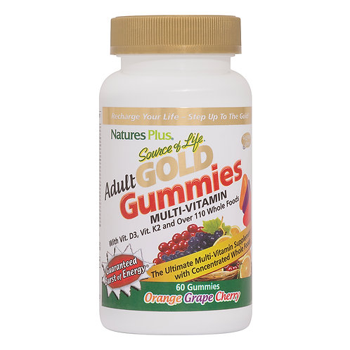 Natures Plus Source of Life Gold Adult Gummies 60ct 30 Servings