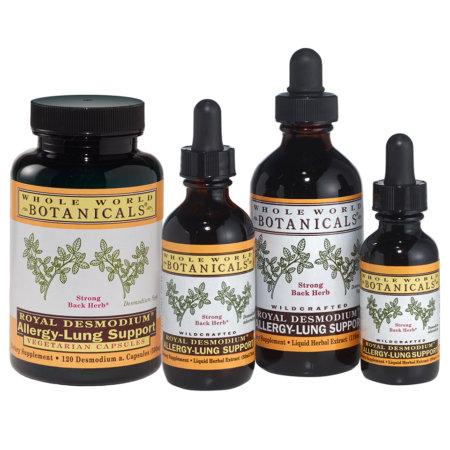 Whole World Botanicals Royal Desmodium Allergy-Lung Support 4 fl oz 60 Servings