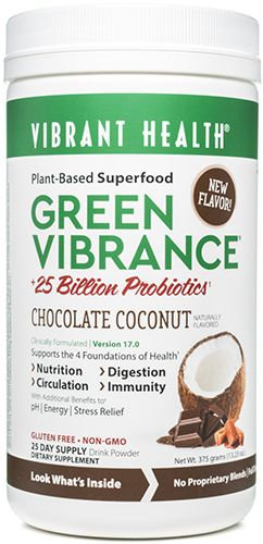 Green Vibrance Chocolate Coconut 25 Day Supply 354.75 grams