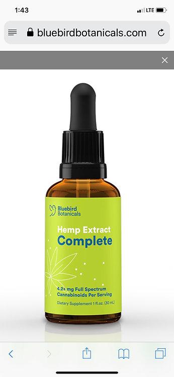 HEMP COMPLETE 250+ mg raw & heated cannabinoids per ounce, plus hemp terpenes.