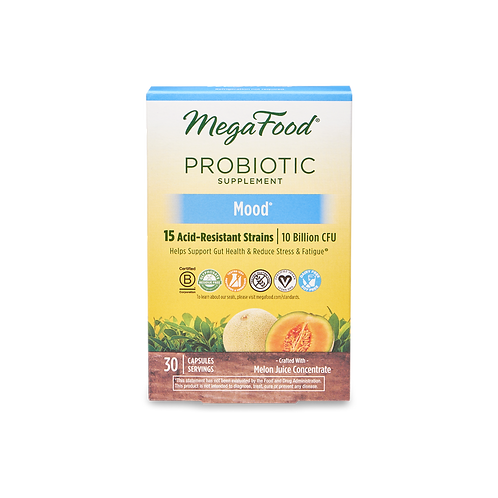 MegaFood Shelf Stable Probiotic Mood 30 Capsules