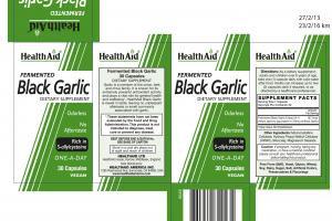 Health Aid Fermented Black Garlic 30 VegCaps
