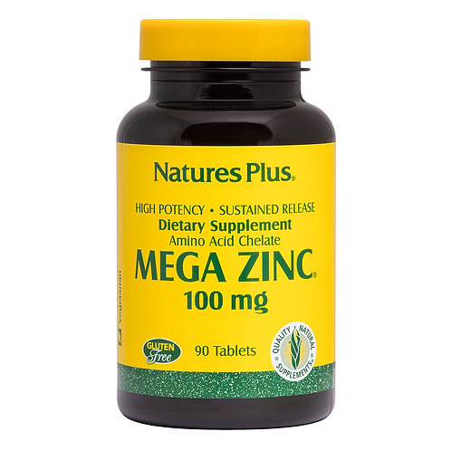 Natures Plus Mega Zinc 100mg 90 Sustained Release Tablets