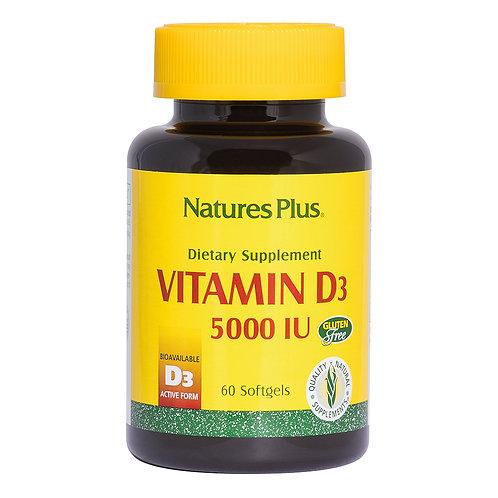 Natures Plus Vitamin D3 5000IU 60 Softgels