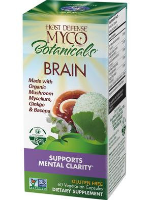 Host Defense Myco Botanicals Brain 60 VegCaps 30 Servings