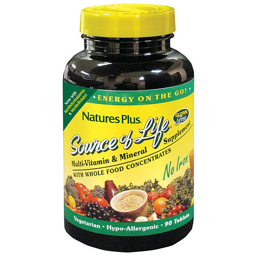 Natures Plus Source of Life No Iron Tablets