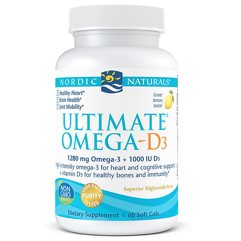 Nordic Naturals Ultimate Omega-D3 60 Soft Gels 30 Servings