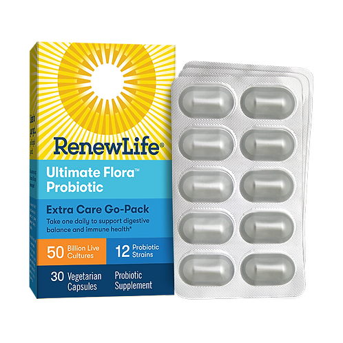 Renew Life Ultimate Flora Extra Care Go-Pack 50 Billion 30 VegCaps