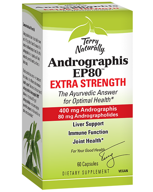 Terry Naturally Andrographis EP80 400mg 60 Capsules