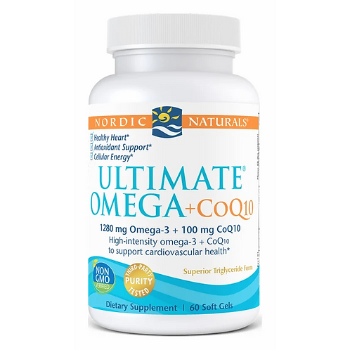 Nordic Naturals Ultimate Omega + CoQ10 60 Softgels 30 Servings
