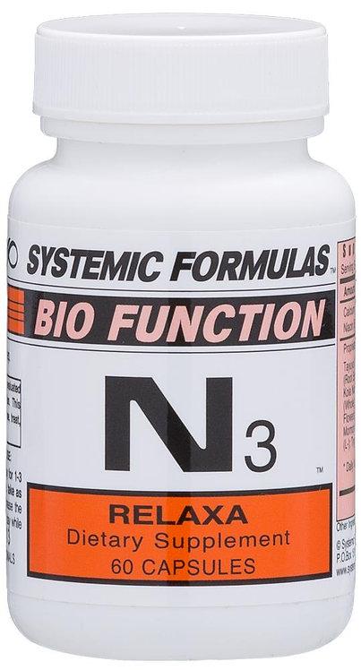 Systemic Formulas Bio Function N3 Relaxa 60 Capsules