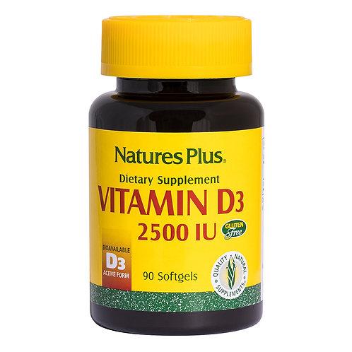 Natures Plus Vitamin D3 2500IU 90 Softgels