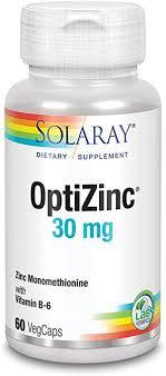 Solaray OptiZinc 30mg 60 VegCaps