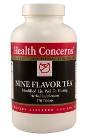Health Concerns Nine Flavor Tea 90 Capsules 30 Servings
