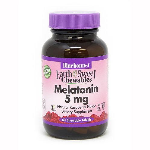 Bluebonnet Melatonin 5mg 60 Chewable Tablets
