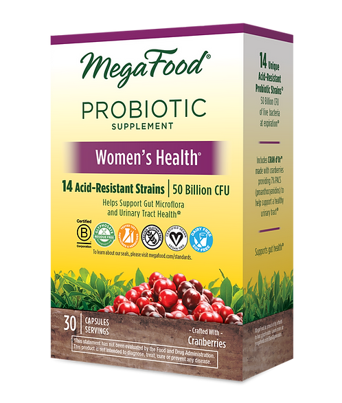 MegaFood Shelf Stable Probiotic Women's Health 30 Capsules