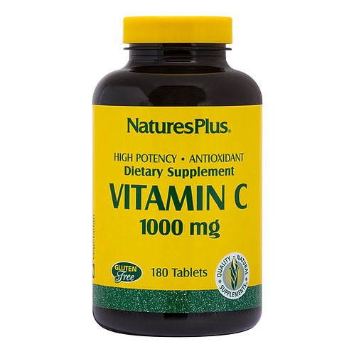 Natures Plus Vitamin C 1000mg with Rose Hips 180 Tablets