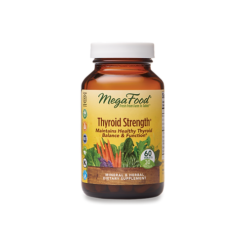 MegaFood Thyroid Strength 60 Tablets 30 Servings